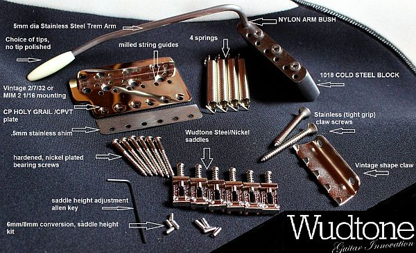 Wudtone CP HOLY GRAIL Tremolo Assembly